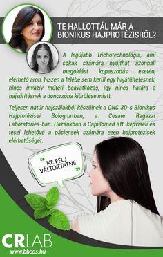 Az új BIONIKUS HAJPROTÉZIS nálunk először Magyarországon már elérhető a páciensek számára. Hajvizsgálat és mintavétel után Bologna-ban készülnek az egyedi és teljesen natúr bionikus hajprotézisek.   További információkért látogass el Weboldalunkra!
