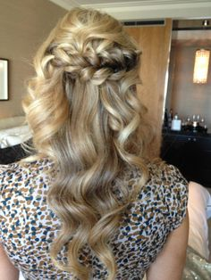 Stunning side braid and curls