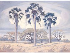 Palm Trees near Trichardsdal Palm Tree Drawing, Landscape Paintings, Tree Paintings, African Paintings, South African Artists, Fine Art Auctions, Sketch Painting, Art For Art Sake, Pastel Art