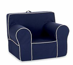 Navy with Stone Piping Oversized Anywhere Chair #PotteryBarnKids
