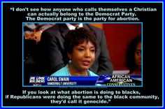 """""""If Republicans were doing the same to the black community, they (the liberals) would call it genocide."""""""