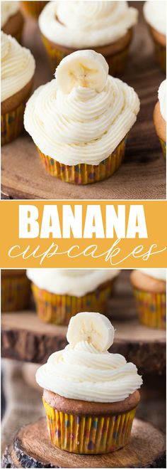 Banana Cupcakes - Sweet, tender and full of yummy banana flavour!