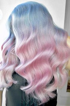 Funky Blushed Bahamas Ombre #pinkhair #bluehair #ombre ❤️ Want to get pastel pink hair? Rose ombre with dark roots, perfect pink highlights for blonde hair, and many ideas for short and long hair are here! ❤️ See more: http://lovehairstyles.com/pastel-pink-hair-shades/ #lovehairstyles #hair #hairstyles #haircuts