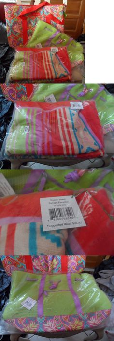 Mixed Items and Lots 15738: Vera Bradley Paradise Beach Towel, Cooler Tote And Mesh Tote Set Nwt -> BUY IT NOW ONLY: $130 on eBay!