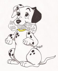 I wanted to draw another puppy I love dalmation pups Hes bring the mail to his daddy Mails here dad Disney Cartoon Characters, Disney Cartoons, Fictional Characters, Emo Wallpaper, Disney Wallpaper, Cartoon Dog, Cartoon Pics, Disney Images, Disney Art