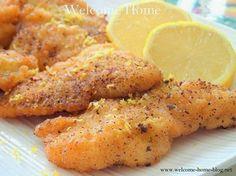 Welcome Home: Lemon Pepper Fish