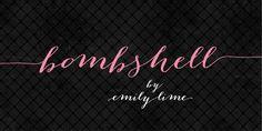 Bombshell Pro - Webfont & Desktop font « MyFonts