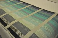Gradiance Bed Runner by Quilt Dad - convert to prayer shawl