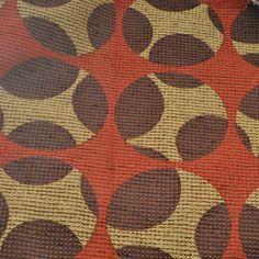 Vintage Upholstery Fabric  Geometric  Gold  by JemmDeesAttic