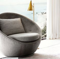 RH Modernu0027s Milo Baughman Model 1967 Fabric Swivel Chair:Designer Milo  Baughmanu0027s Long Collaboration With Thayeru2026