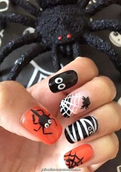 53 Spooky Halloween Nail Art Designs Ideas That Will Inspire You Nail Art Ideas Holloween Nails, Cute Halloween Nails, Halloween Nail Designs, Halloween Ideas, Spooky Halloween, Funny Halloween, Halloween Acrylic Nails, Trendy Halloween, Fancy Nails