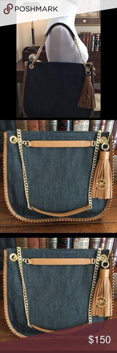 Michael Kors denim purse New without tags Michael Kors denim/leather purse. Michael Kors Bags Shoulder Bags