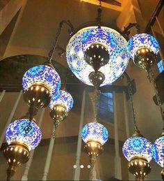 Mosaic chandelierceiling fixture8 large ball by BeautyofTurkey