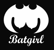 New Custom Screen Printed Tshirt Batgirl Boobs Superhero Humor M