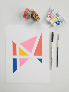 Easy Geometric Art by Beatrice Clay | Squirrelly Minds