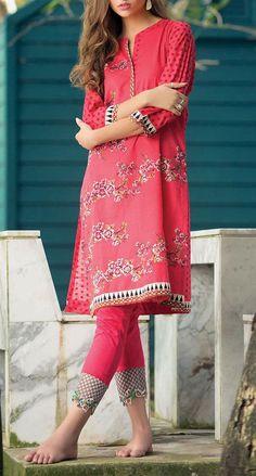 Buy Carrot Pink Printed Khaddar Shalwar Kameez by Orient 2015