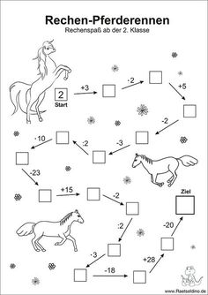 Numbers puzzle with horses - math arithmetic problems class - Holly's Education Archive Math Activities For Kids, Math For Kids, Math Games, Kids Learning, First Grade Math, Arithmetic, Exercise For Kids, Math Worksheets, Primary School