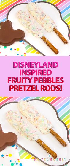 Disneyland Inspired Fruity Pebbles Pretzel Rods!