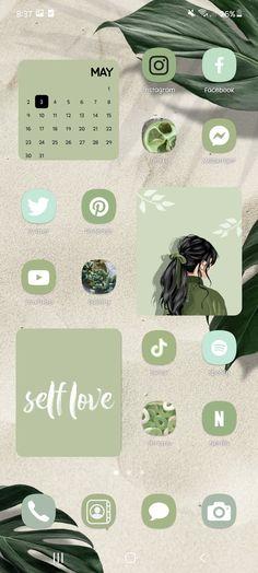 aesthetic pastel green theme