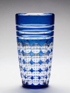 A Blue Francais Val St Lambert Vase
