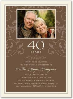 Anniversary Invitations Joyful Flourish - Front : Willow  Tiny prints website