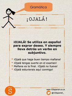 ¡ojalá! + subjunctivo een wens uitdrukken