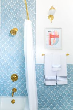 All it took was four months and some seriously gorgeous tile to makeover this bathroom.