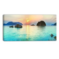 Sunrise Panorama Photographic Print on Wrapped Canvas