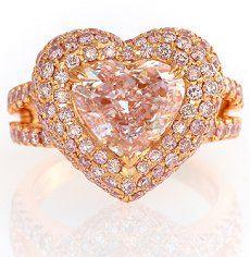 3.57ct Heart shape, Pink - Designer Ring