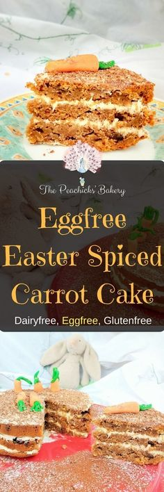 Eggfree Easter Spiced Carrot Cake, filled with a vegan vanilla buttercream. Complete with a cute fondant carrot garden it is the perfect centre piece to any Easter celebration! Buttercream Fondant, Vanilla Buttercream, Baking Recipes, Vegan Recipes, Vegan Meals, Yummy Recipes, Carrot Spice Cake, Easter Celebration, Kitchens