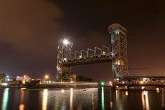 #Калининград. Ночь у двухъярусного моста.Фото : [id61279254|Вильдан Шарафутдинов]