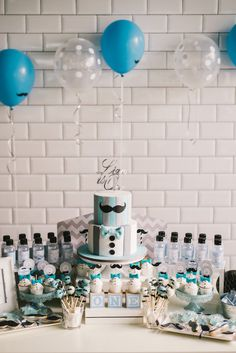 Sweet Table From A Modern Little Man Birthday Party On Karas Ideas