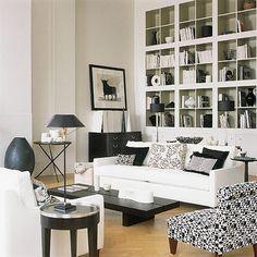 contemporary living room Black & White living  room via @Houzz