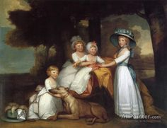 Gilbert Stuart,The Children Of The Second Duke Of Northumberland oil painting reproductions for sale