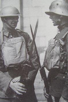Old and new battle dress. Ireland's Emergency Army', p. Irish Free State, Interwar Period, History Tattoos, Military Tattoos, Dublin City, Helmet Design, Military History, Wwi, Archaeology