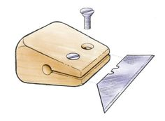 Utility-knife blade makes a nimble scraper - FineWoodworking #WoodworkingTools