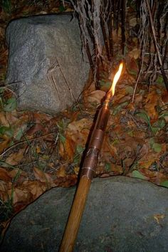Add a torch to the top of a Hiking Staff to illuminate your way. 	The VIDEO shows the torch in action. 	This is Part 3 in the Multi-Function Walking Stick...