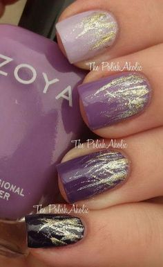 16 Fabulous Purple Nail Designs to Try #naildesigns Best Nail Art Designs, Purple Nail