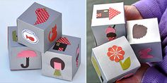 Once upon a time…just roll the story dice and take turns 'spinning a yarn' based on the images that you see. What a fabulously clever and sweet idea for home or the classroom :) All you need to make is some card to make the cubes and paper shapes (or you could use wrapping paper [&hellip