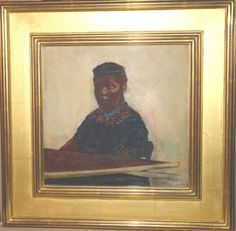 "Original David Levine (1926-2009) Watercolor ~ ""Woman Beading"" ~ signed & dated"