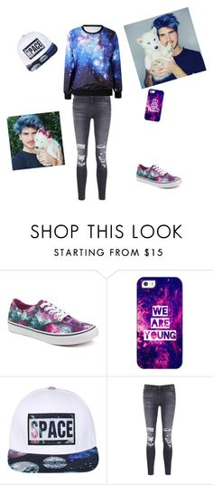 """Joey graceffa inspired"" by swaggalxay ❤ liked on Polyvore featuring Vans, Casetify and J Brand"