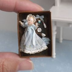 Exquisite Hand Sculpted Baby Doll Toy in Box European Spain Dollhouse Miniature | eBay