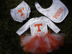 University of Tennessee VOLS Baby Gift Set by ThePinkPearBoutique, $75.00