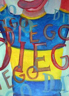 Diego! Diego!, acrylic on canvas, 73x 45 cm. 2006.