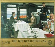 Ciudad de la pintura -TAYLOR, Leonard Campbell  British (1874-1969)_El coche bar 1928