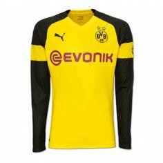 4e2e119d5fd Borussia Dortmund 18/19 Home Long Sleeve Men Soccer Jersey Personalize –  zorrojersey German Football