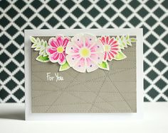 """Floral сard """"For you"""" with stamp set from Happy Little Stampers"""