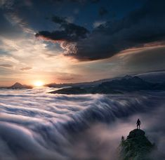 Wanderer Above the Sea of Clouds by Max Rive on 500px  . Long-Exposure Photography