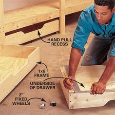 Photo 10: Assemble the drawers (could use same drawer plan for under bunk bed)