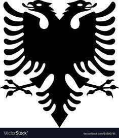 Black albanian eagle vector image on VectorStock Flag Drawing, Eagle Drawing, Albanian Tattoo, Adobe Illustrator, Snapchat Logo, Eagle Vector, Eagle Tattoos, Hand Tattoos, Marijuana Art